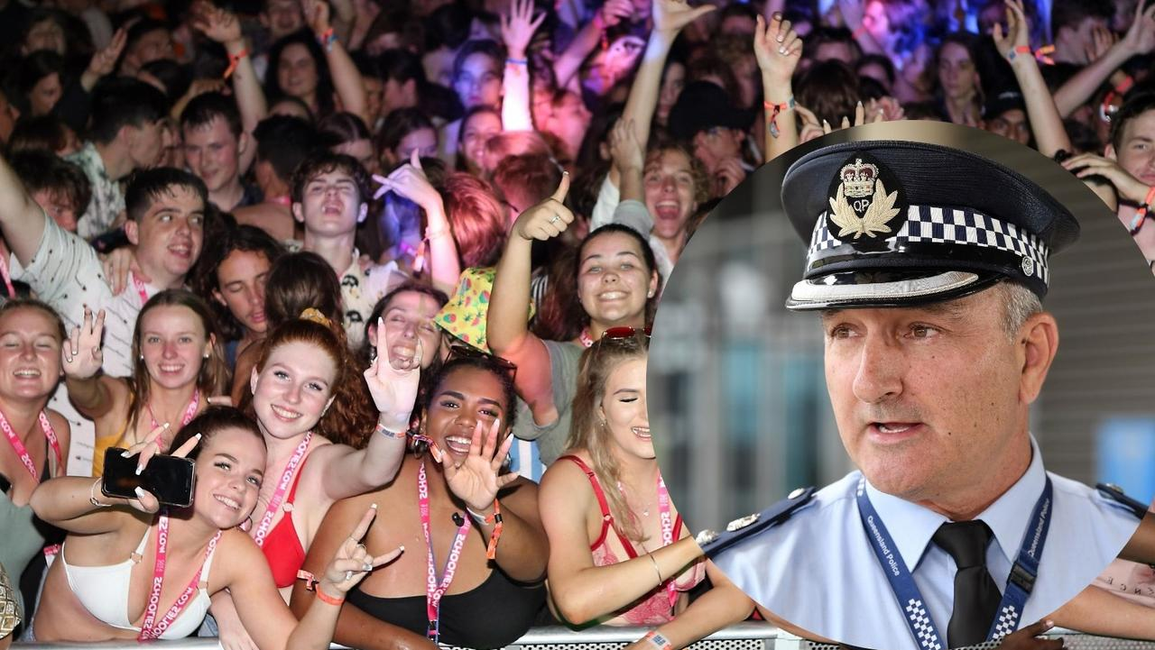 Sunshine Coast emergency services including acting district officer Superintendent Jason Overland have sent a message to schoolies to stay safe and sensible.