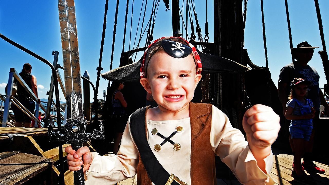 Eli McManus 4 of Burdell on-board the 'Notorious' ship. Picture: Zak Simmonds