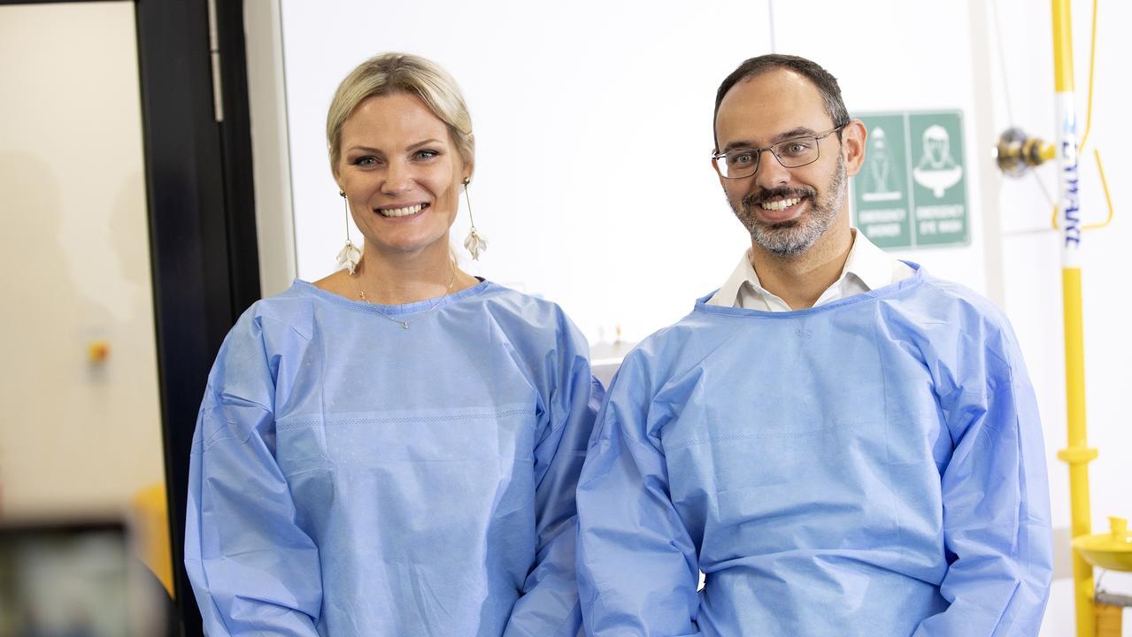 Clinotec managing director Hayley Robinson and Dr Gustavo De Cerqueira. Picture: CADE Media