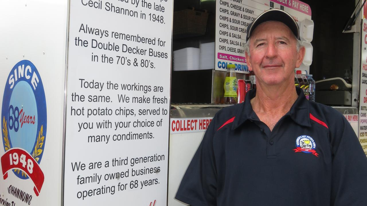 IN WARWICK: Clyde Horrex will bring the famous Shannon's Hot Potato Chips pop-up stall to Warwick this weekend.