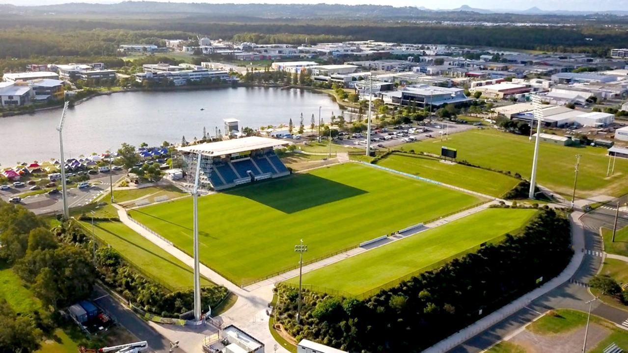 Aerial view of the Sunshine Coast Stadium at Kawana Picture austadiums.com