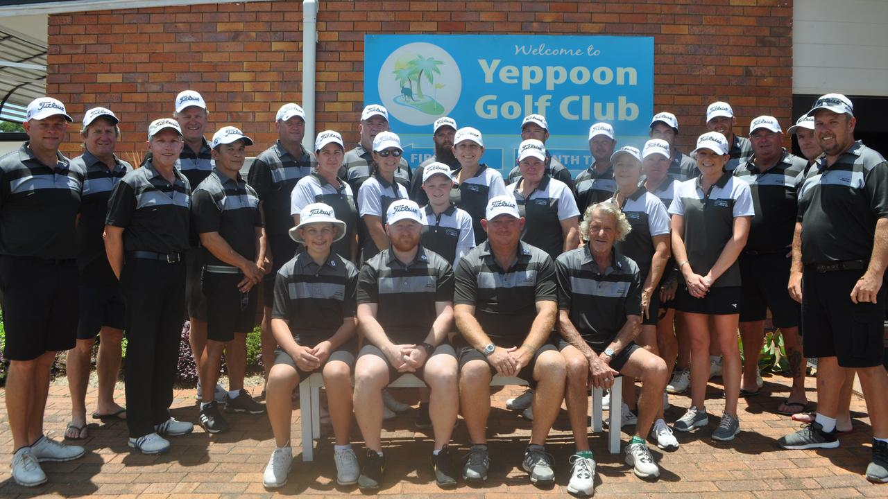 The Yeppoon golf teams that reigned supreme against Rockhampton in the opening round of the Keppel Zone pennants. Photo: Contributed