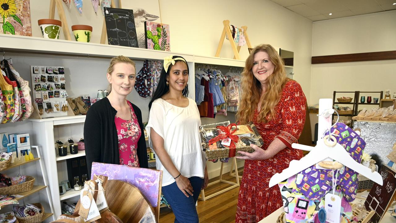 Shop local in Toowoomba this Christmas, Kim Cahill (right) at