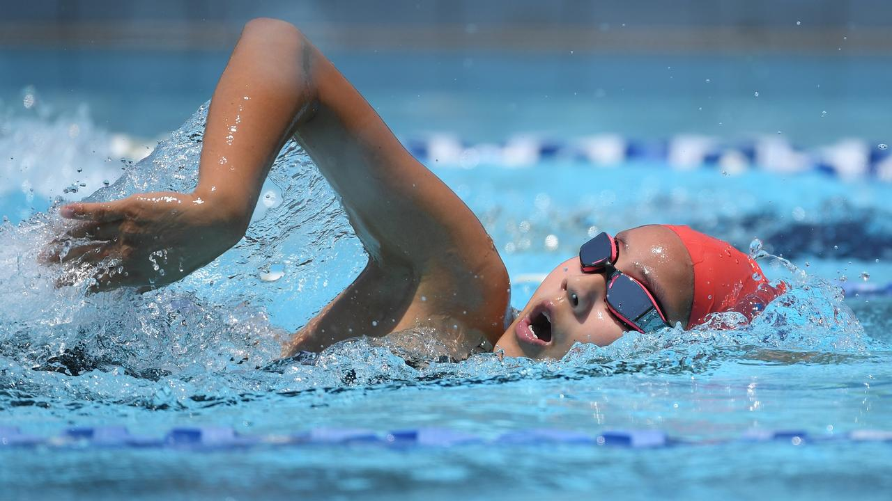 A 200m freestyler works hard during a previous Woogaroo Swimming Carnival at the Bundamba Swim Centre. Picture: Rob Williams