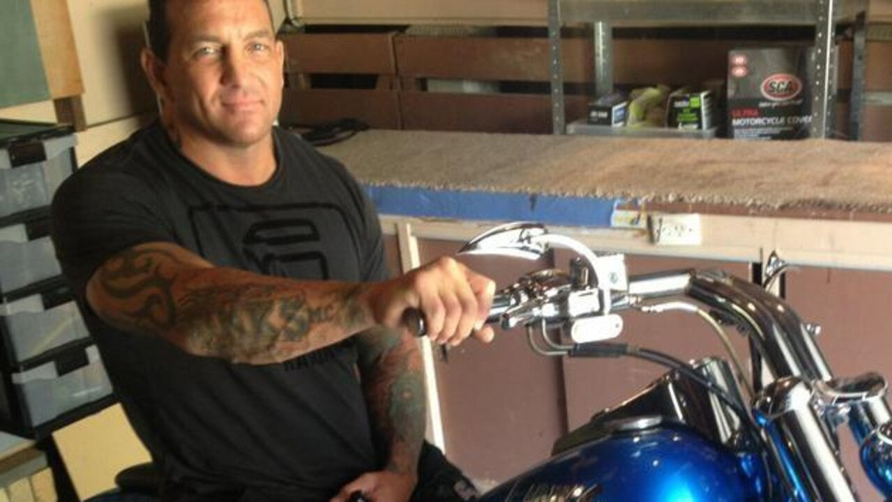 Notorious bikie Shane Bowden was gunned down in his driveway in Cox St, Pimpama in October this year. Picture: Facebook.