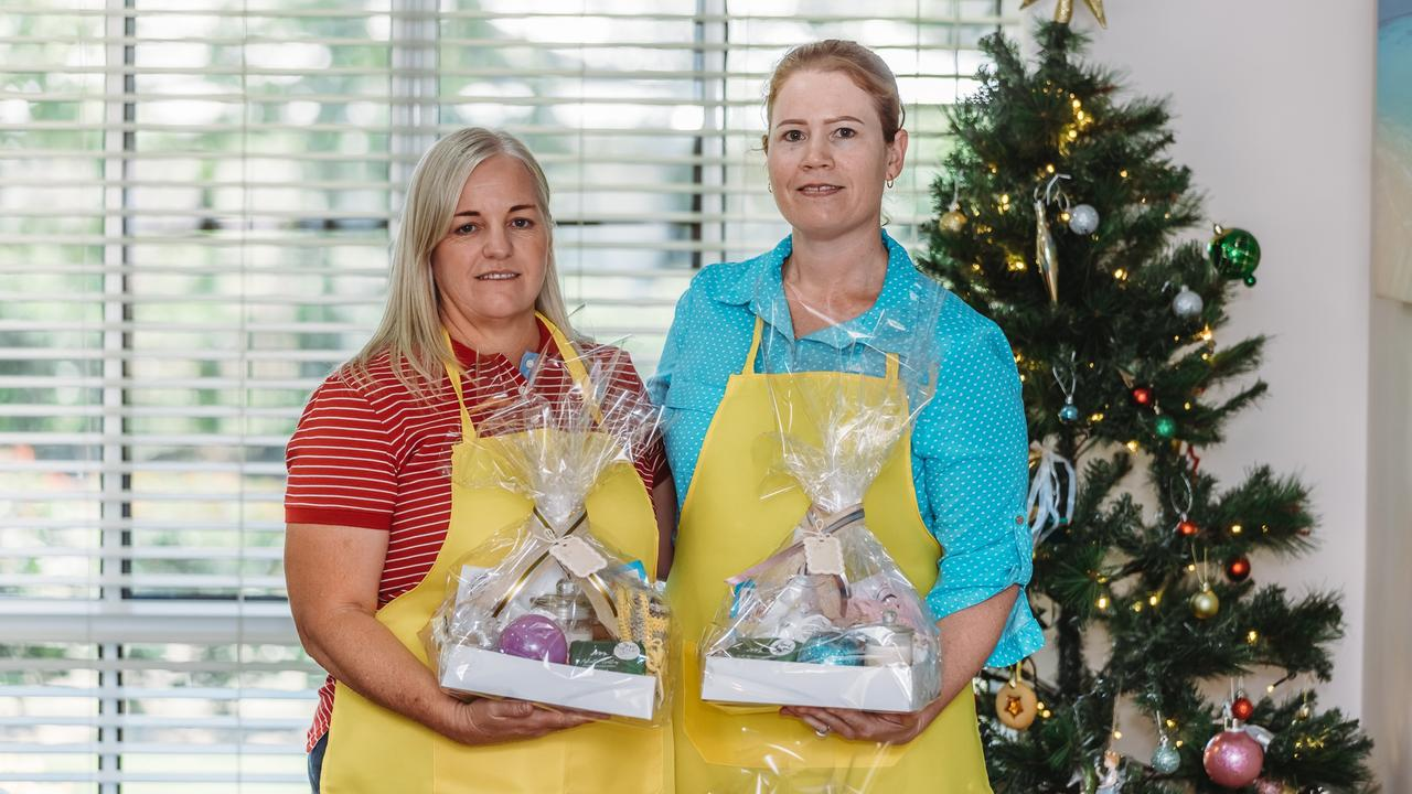 CHRISTMAS APPEAL: Dalby residents Tammy Hope and Leah Rook are running a Christmas Hamper campaign as a Drought Angels Fundraiser. Picture: Susan Jacobs Photography