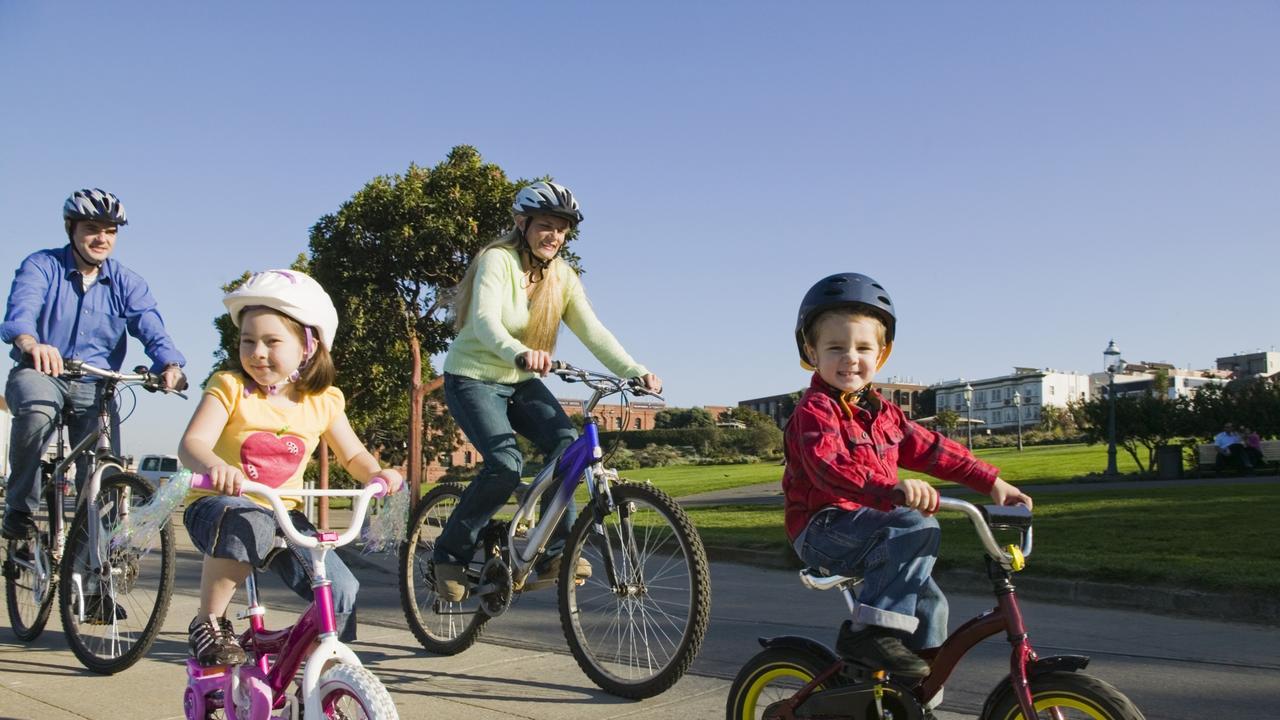 Family fun. Bikes. Cycling. Family. Children. Generic image.