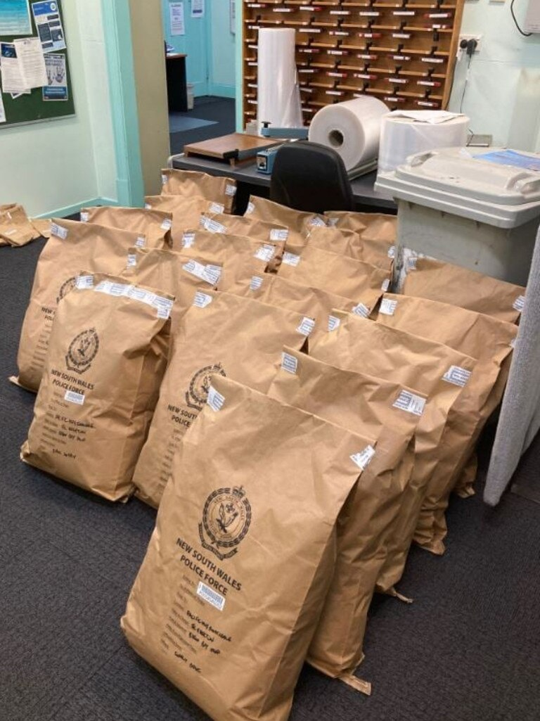 Police have charged two men after 85kg of cannabis was allegedly located in a truck on the Pacific Highway at Ewingsdale on the night of Thursday, November 19, 2020.