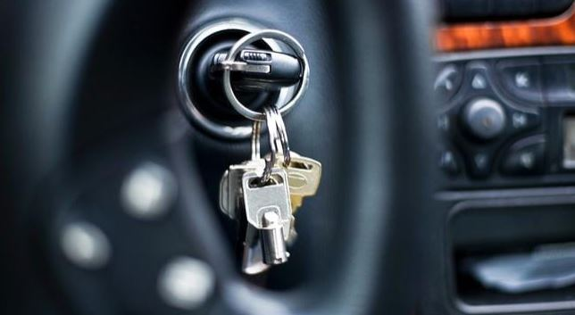 While it's convenient, it's not the smartest thing to leave your key in the ignition unattended. Source: istock