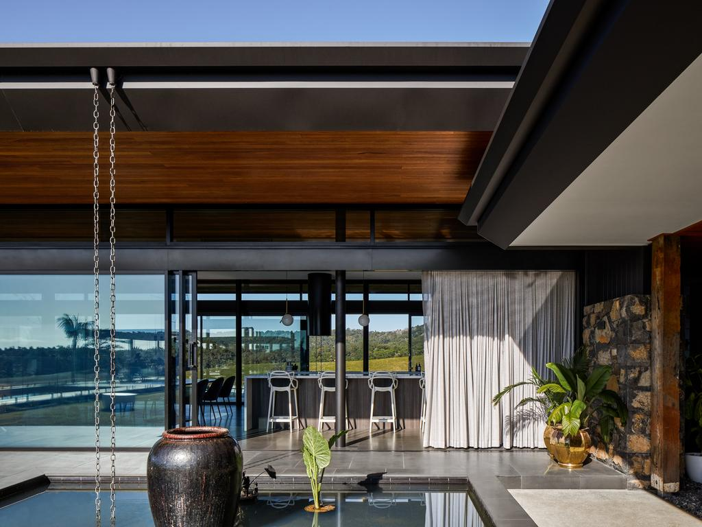 Indoor/outdoor flow is fundamental to this house built by Hammerhead Building Projects.
