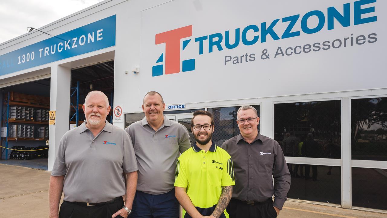Truckzone's Mark Hill, Lloyd Laycock, Matthew Bell and Alan Olive.