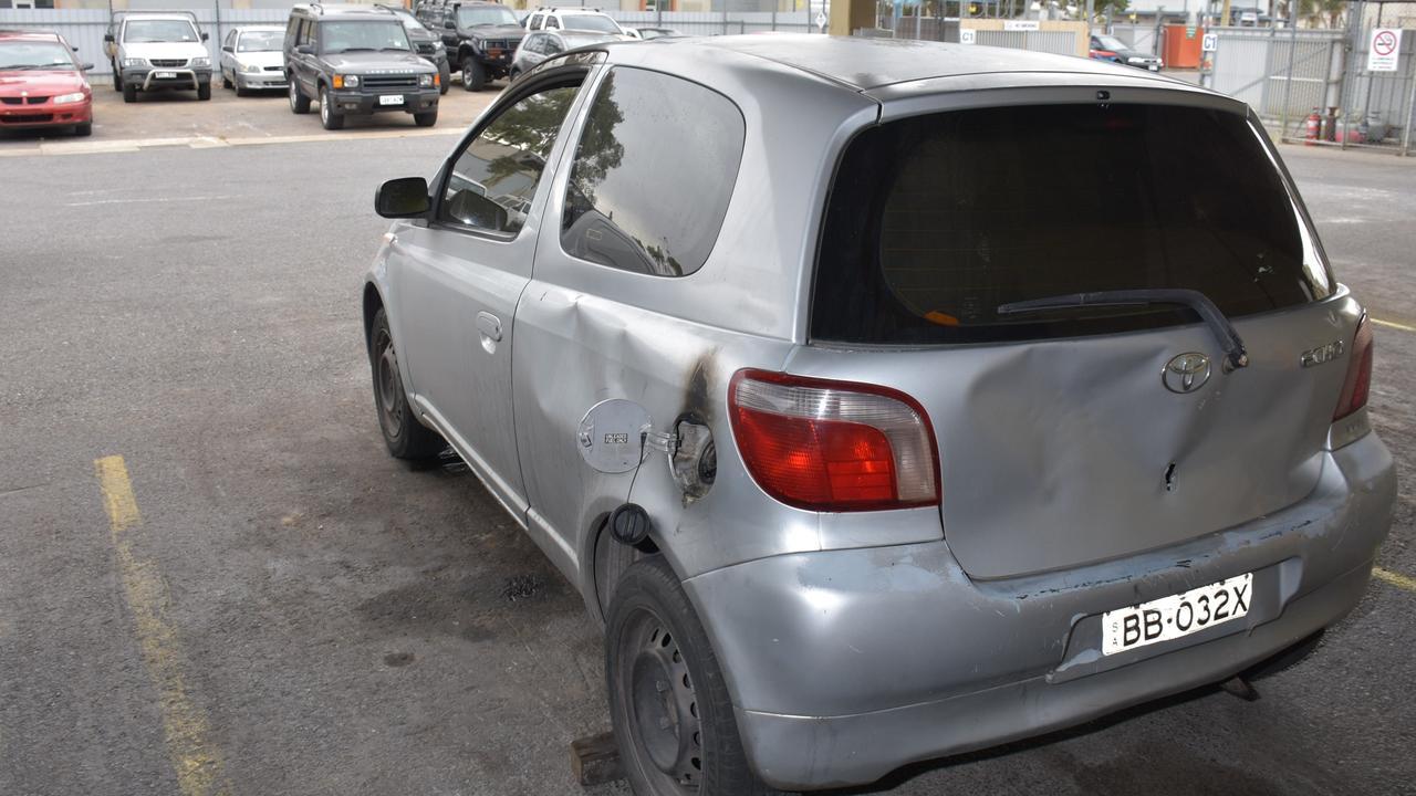 Toyota Echo burnt at Semaphore on 20/11/20