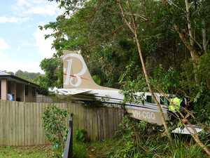 What caused pilot to make backyard crash landing