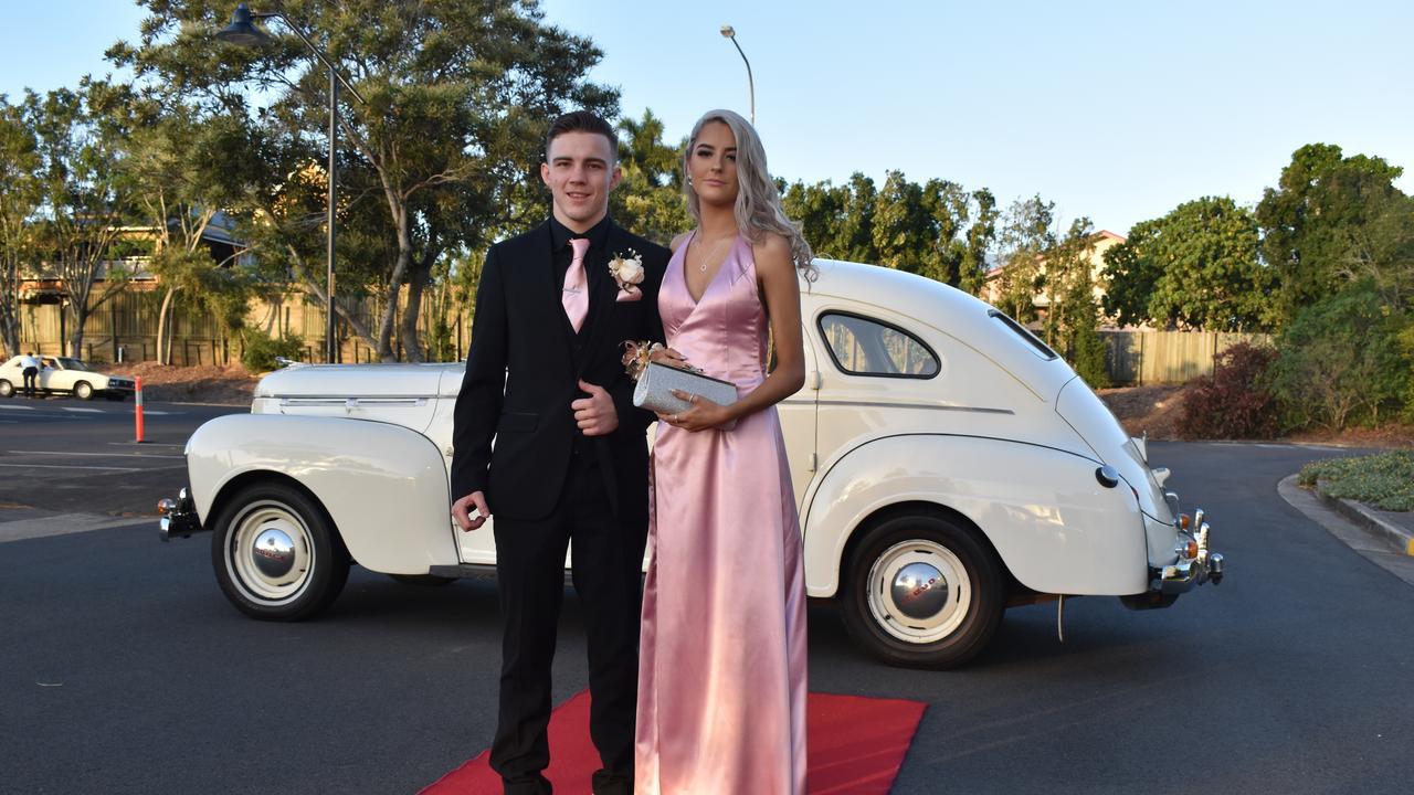 RIVERSIDE FORMAL: Bella Lester and Kynan Watson arrive at the Riverside Christian College Formal. Photo: Stuart Fast