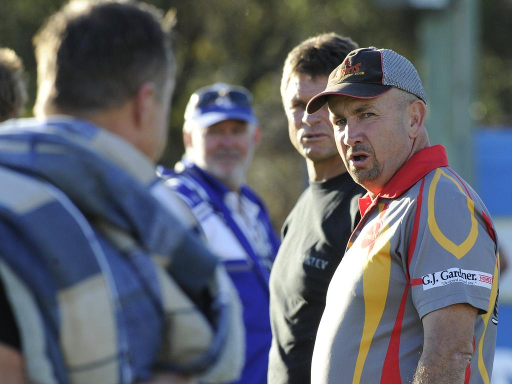Col Speed received a frosty reception on his visits to Frank McGuren Field as coach of Coffs Harbour Comets, including after the major semi-final which the Comets lost to Grafton Ghosts on 10th August, 2014. Photo Debrah Novak / The Daily Examiner