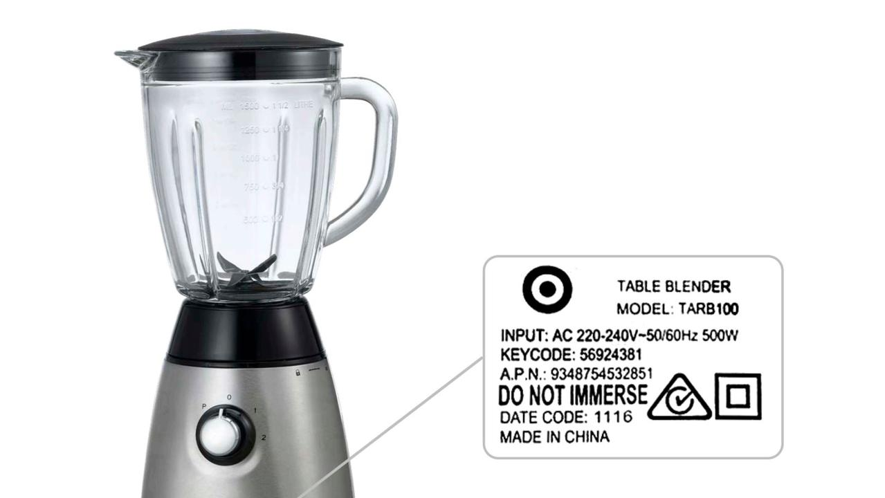 Target reissues recall for blender that can leave blades exposed