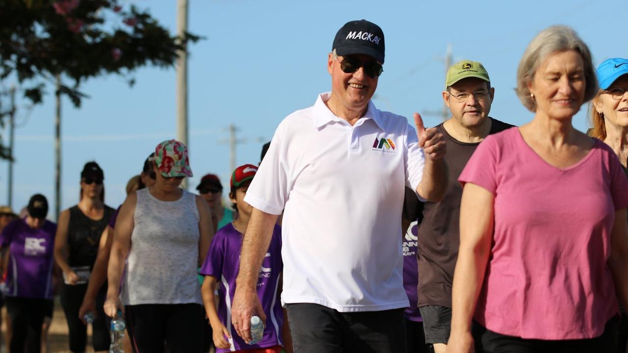 More than 100 residents joined Mackay Regional Council Mayor Greg Williamson on the Mayor's Marina Walk on Sunday October 18.