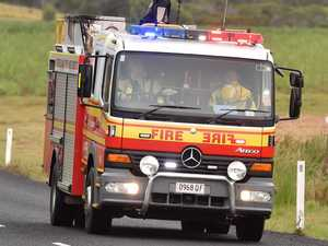 One taken to hospital after late night vehicle fire