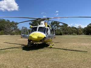 Rider flown to Brisbane with serious injuries