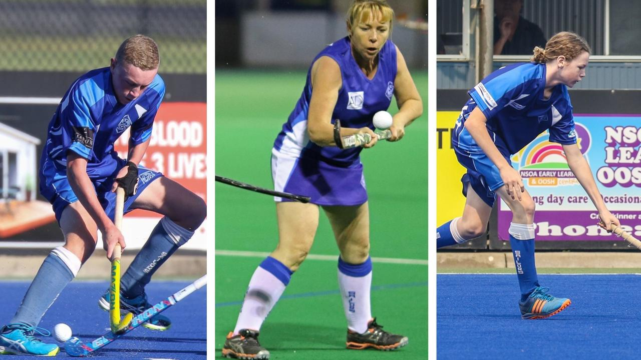 TOP TRIO: In 2019 Elliot, Sharyn and Hamish Speed all won their respective Grafton Hockey Association finals for Sailors Hockey Club.