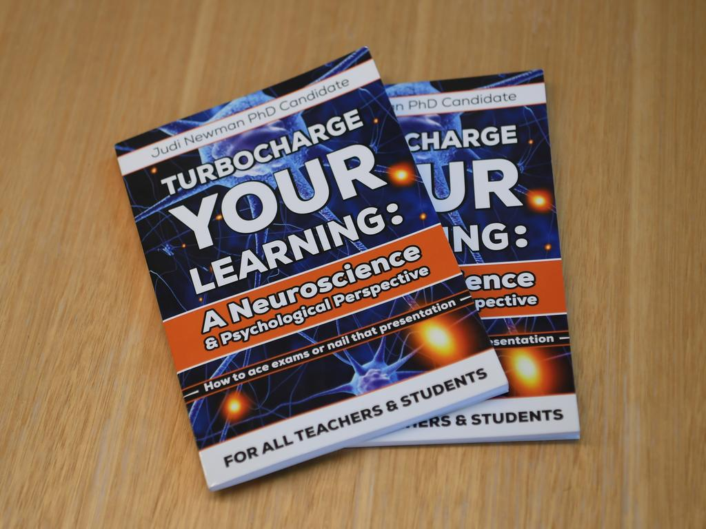 Judi Newman has released three books in the past two years, including 'Turbocharge Your Learning: A Neuroscience & Psychological Perspective'. Picture: Allan Reinikka