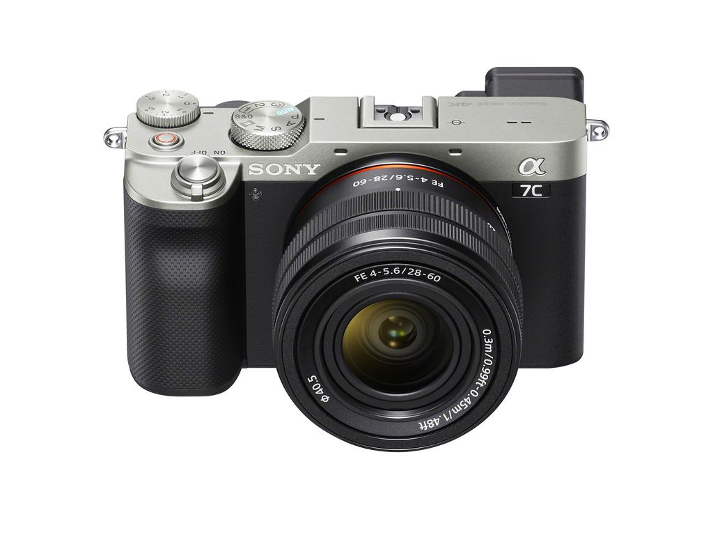 The Sony Alpha 7C is a compact camera with a full-frame sensor.