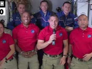 Four new astronauts have arrived at the International Space Station