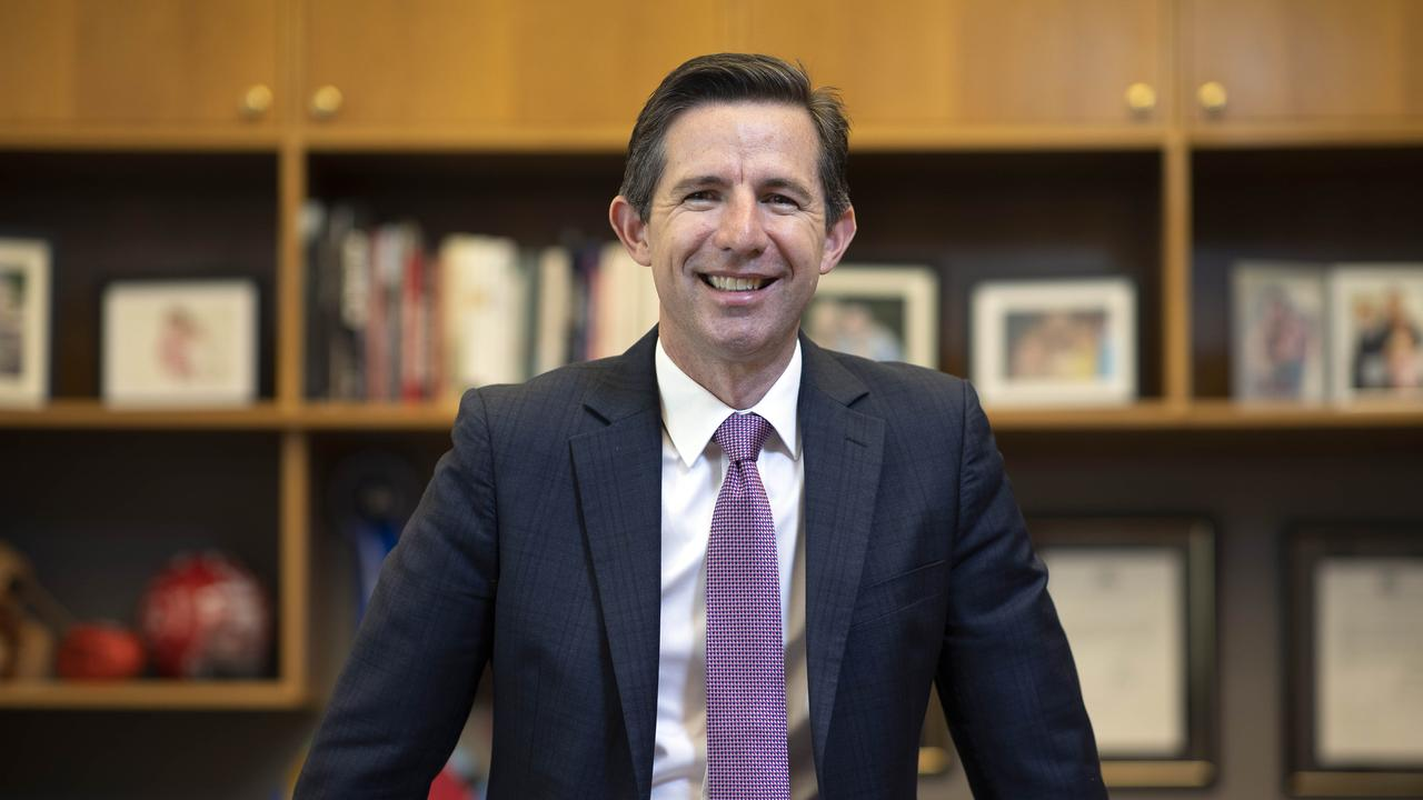 "Tourism, Trade and Finance Minister Simon Birmingham says international travel starting again from next year is ""not impossible"". Picture: NCA NewsWire/Gary Ramage"