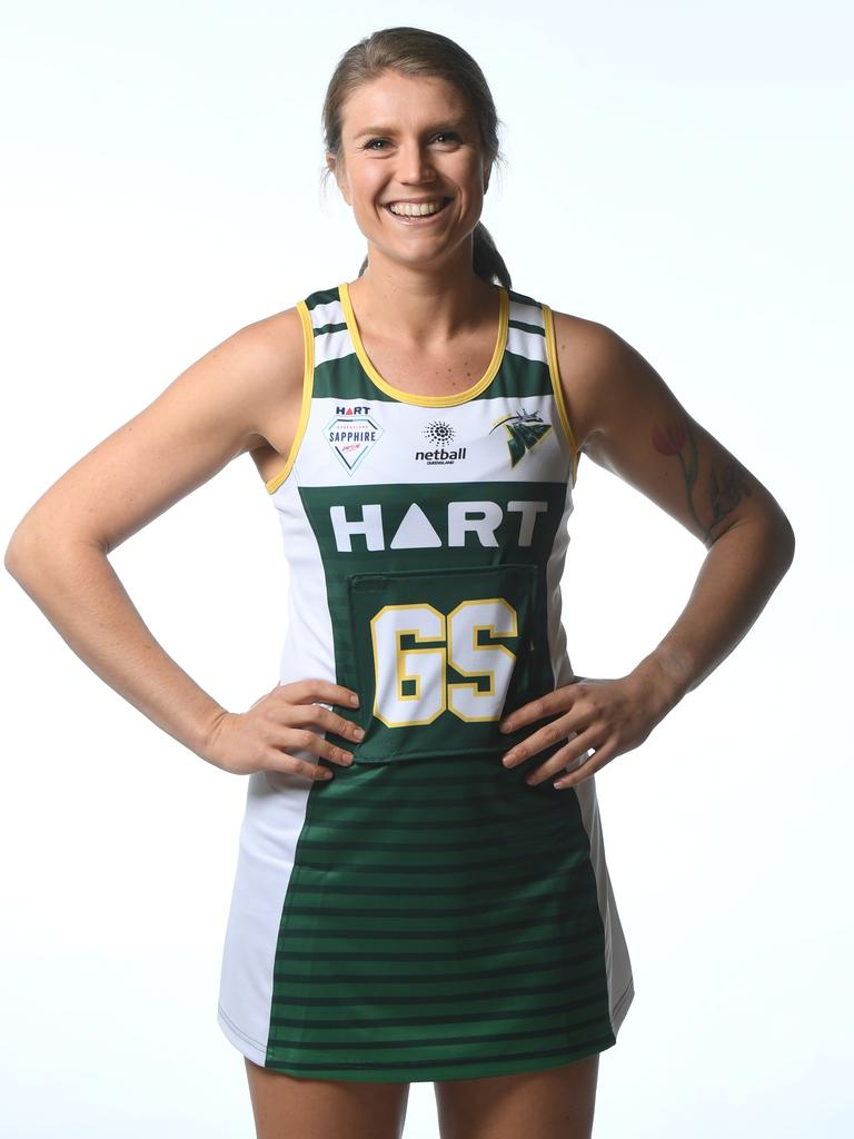 Jets netballer Lucy Benjamin played her last game for the club.