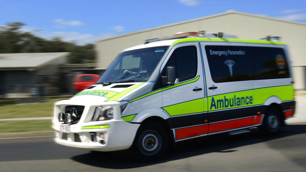 A man has suffered abdominal and leg injuries after he was involved in a single vehicle crash early on Sunday morning.