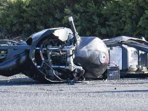 Man hospitalised after late-night motorcycle crash