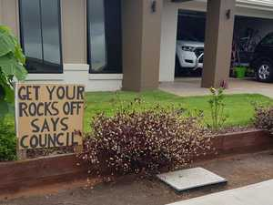 'Get your rocks off': Retired couple's dig at council