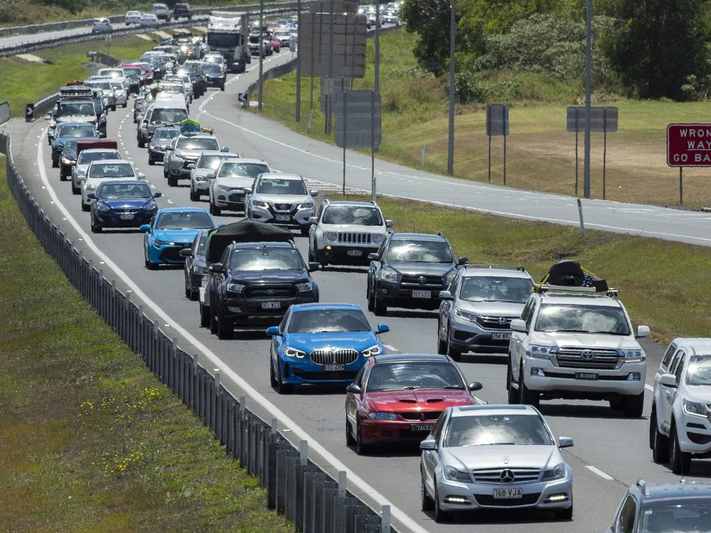 Emergency services have raced to a two-vehicle crash on the Bruce Highway that has created traffic headaches for Brisbane-bound motorists. Photo Lachie Millard