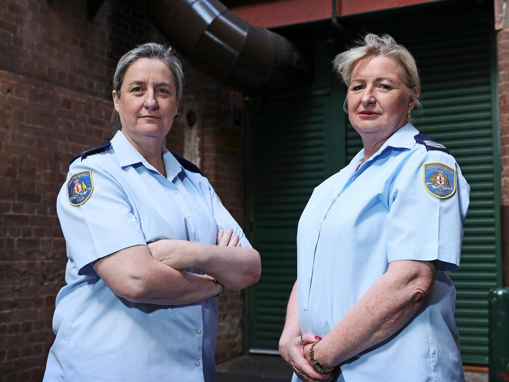Prison Officers Nicole Jess and Trish O'Brien have seen firsthand the devastating effect PTSD is having on their industry. Picture: Tim Hunter.
