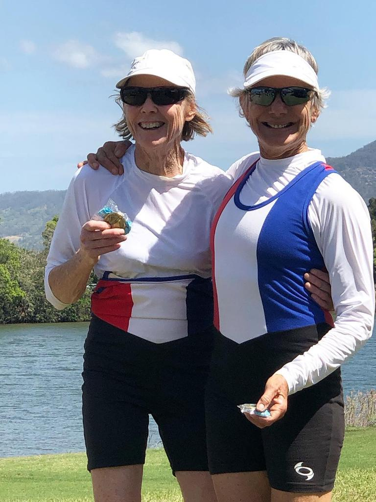 WINNERS: Clare Millist and Mandy Steel were among the titles at the GHS/SGHS regatta last month.
