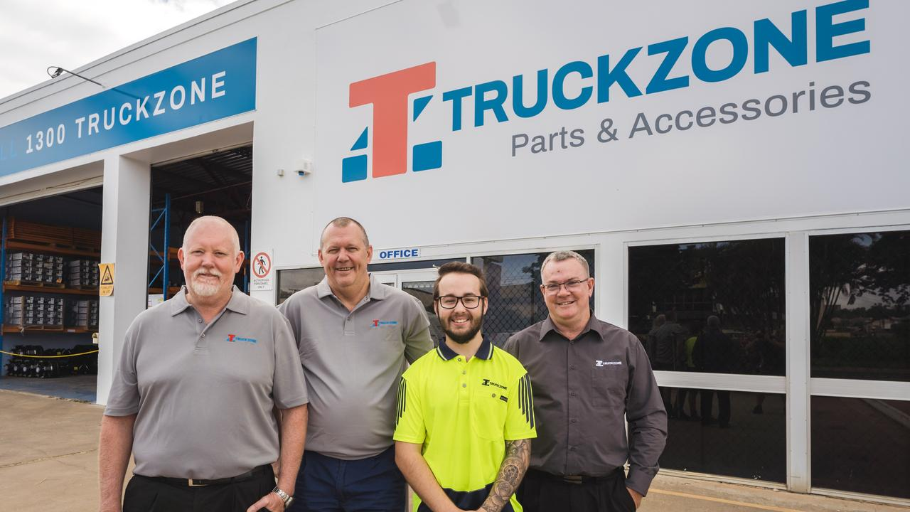 Truckzones' Mark Hill, Lloyd Laycock, Matthew Bell and Alan Olive.