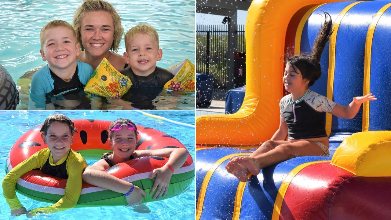Splish, splash, fun at the Inflatable Family Fun Day held at the Mackay Aquatic Recreation Centre Sunday November 22, 2020. Picture: Heidi Petith