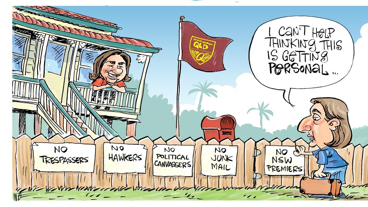 Harry's view on Queensland border dispute.