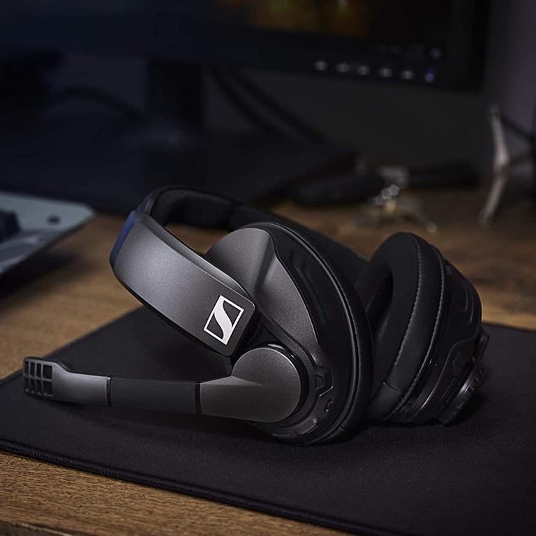 Sennheiser's GSP 370 headphones are designed for wireless gaming.