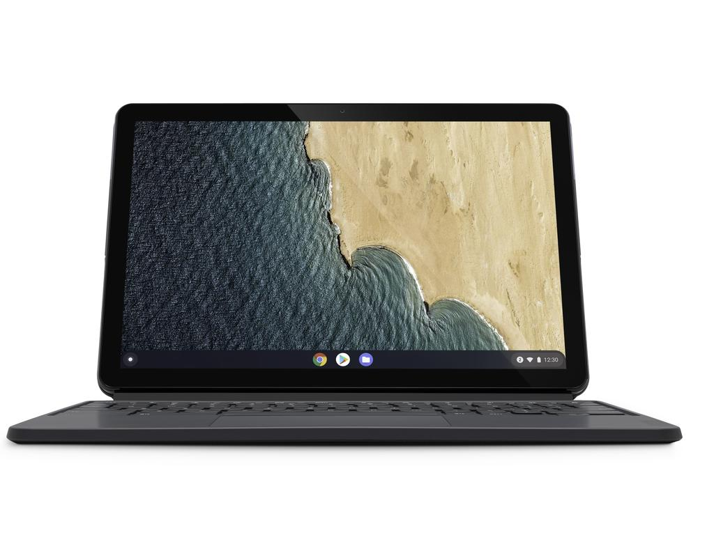 The Lenovo Chromebook Duet pulls double duty as a laptop and tablet computer. Picture: Supplied