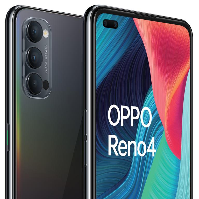 The Oppo Reno4 5G smartphone is a budget model with plenty of power. Picture: Supplied