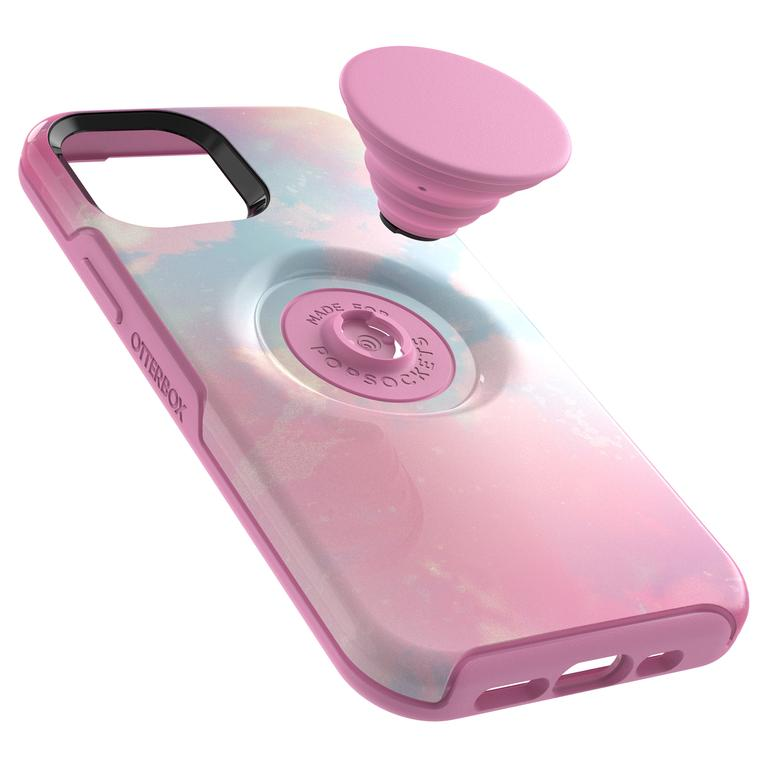 The Otter + Pop Symmetry case for the iPhone 12 offers greater protection and a handle. Picture: Supplied