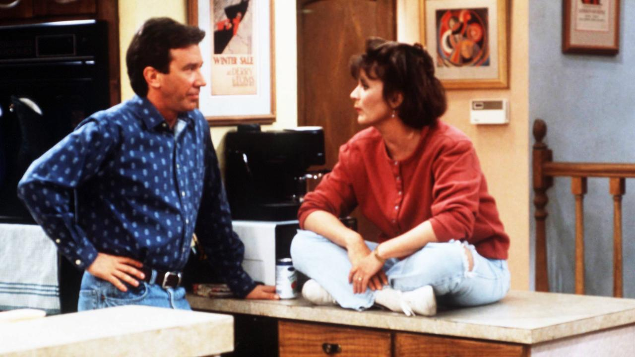 Tim Allen and Patricia Richardson in Home Improvement.