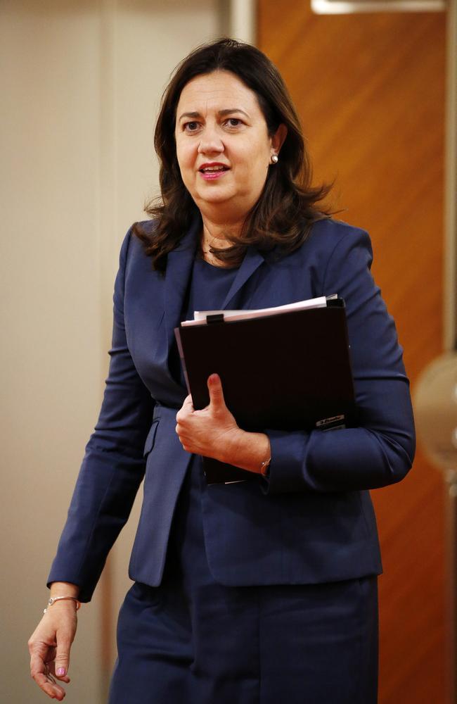 Premier Annastacia Palaszczuk yesterday. Picture: Josh Woning