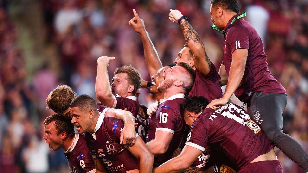 Queensland win the 2020 State of Origin. Photo: Nathan Hopkins