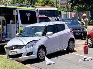 'Loud bang': Crews rush to two-car traffic crash