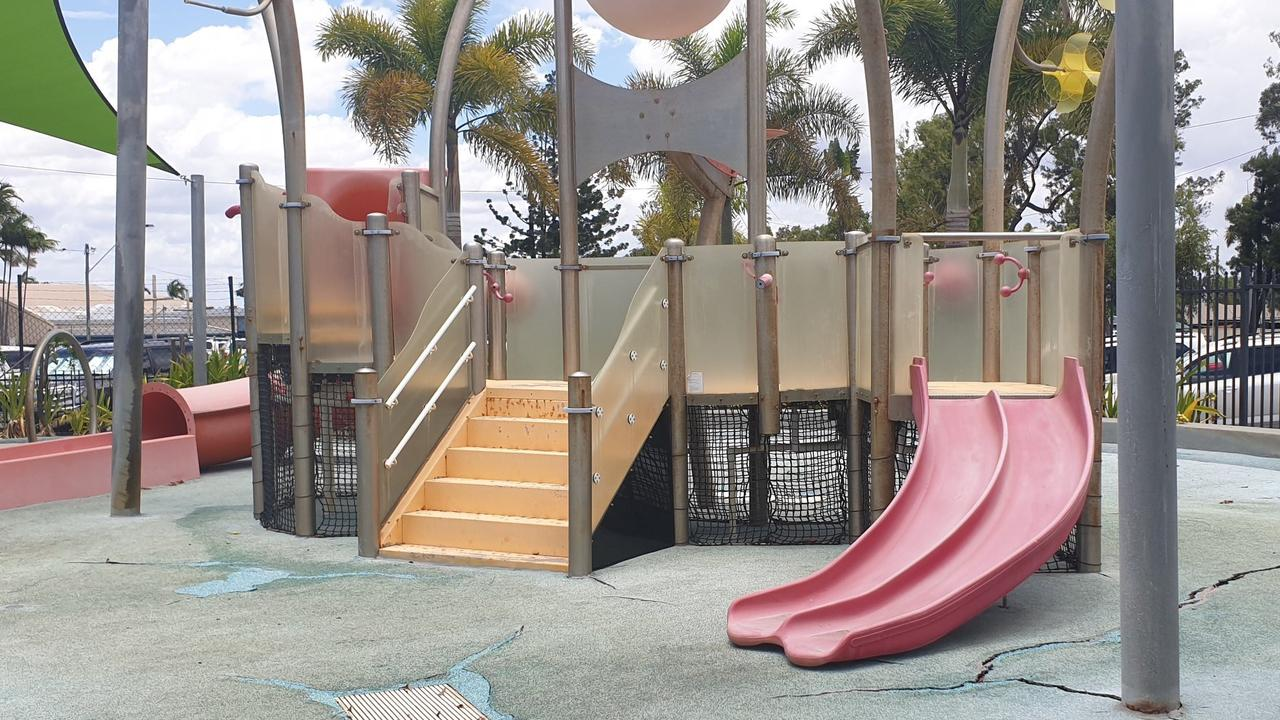 After a thorough inspection, Isaac Regional Council has announced the water park at the Greg Cruickshank Aquatic Centre won't re-open this summer due to deterioration, particularly the soft-fall material on the base.