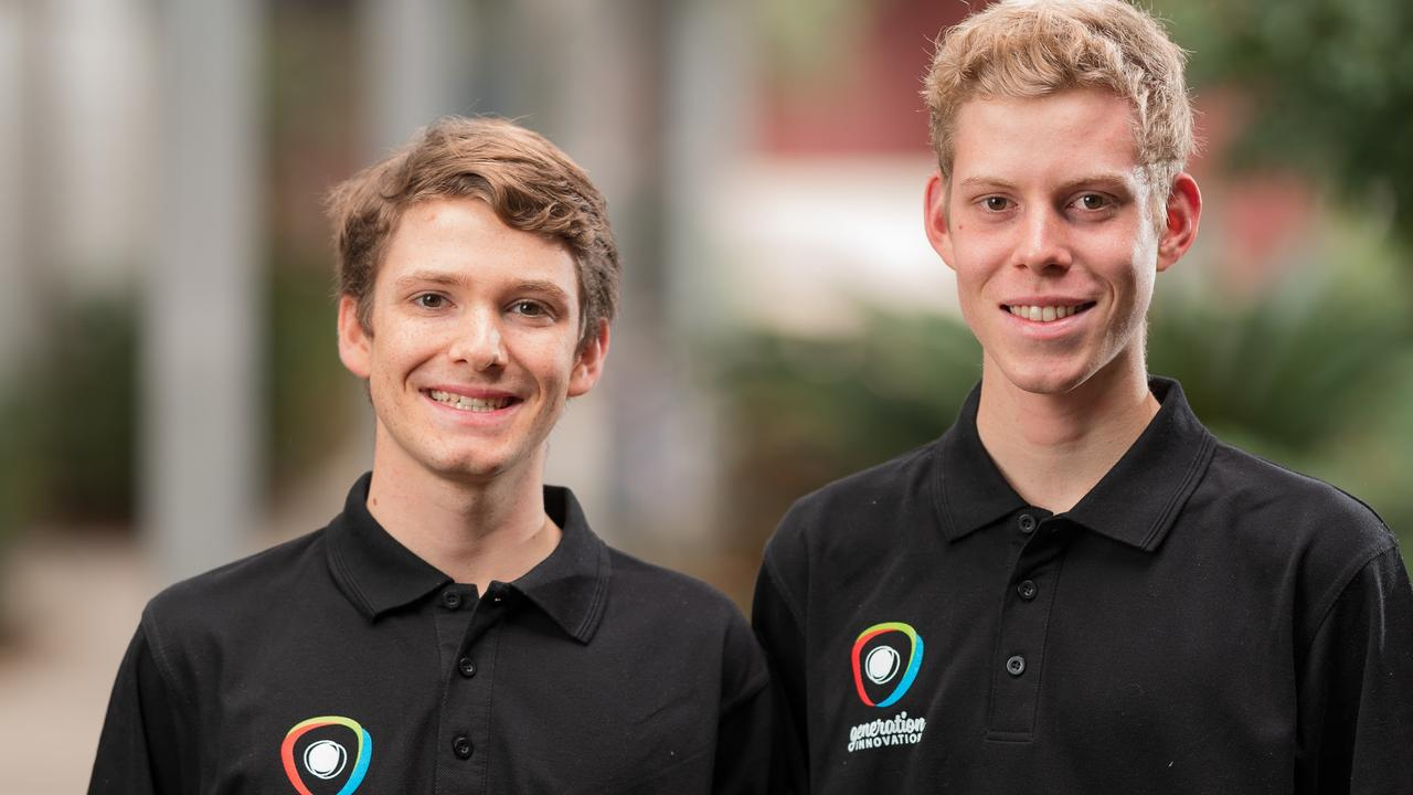 Generation Innovation Challenge participants Karl and Justin Holland are dedicated to solving the global decline in honey bee populations through an innovative business idea Communibee. Picture: Bruce Haggie