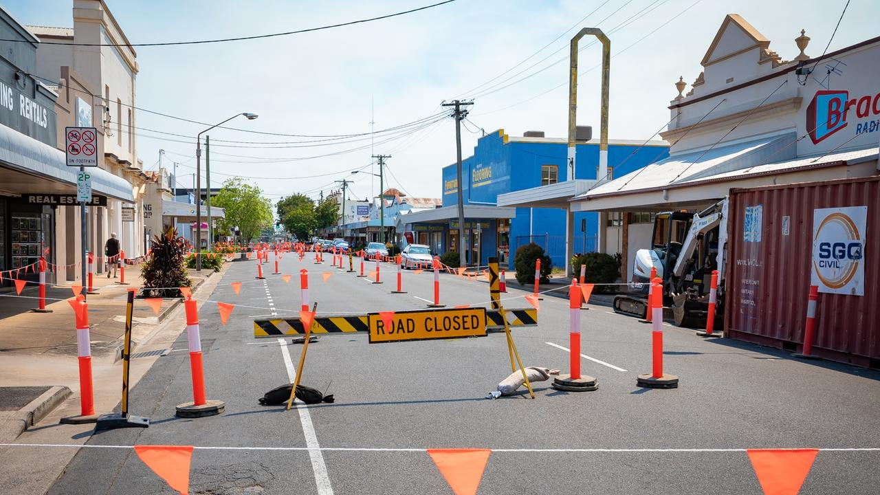 The work will be carried out on Adelaide St between Ellena and Alice St.