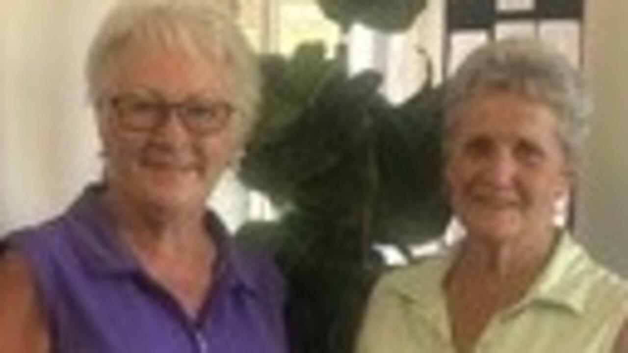 Gympie Golf Club Ladies' Saturday Comp winner Carol Ward and runner-up Maureen Carroll.